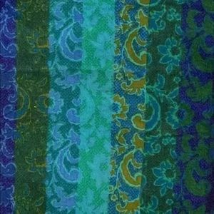 Cotton Abstract Multi Fabric Quilt Craft & Sew